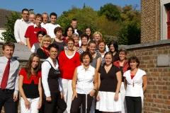 Voor de kerk in Eys liedje 2008